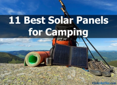11 Best Solar Panels for Camping