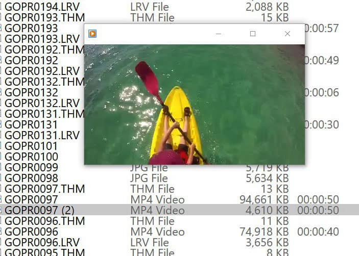 play gopro lrv file